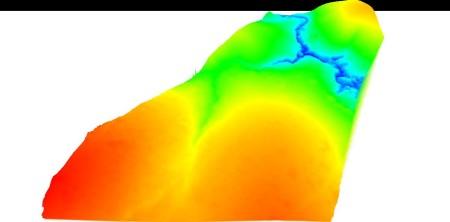 Vista 3D do MDT da área