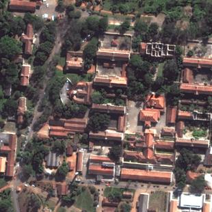 WV2 PSM 0,50 m de resolução de um conjunto ao sul da cidade de São Paulo - SP