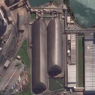 WV2 PSM 0,50 m de resolução de uma área industrial ao norte de Salvador - BA