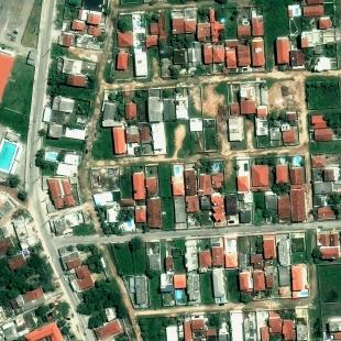 World View 3 PSM, 30 cm, colorido, de área residencial do Cabo de Santo Agostinho, PE