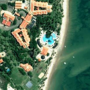 World View 3 PSM, 30 cm, colorido, de um lindo Resort do Cabo de Santo Agostinho, PE