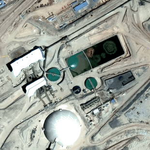 World View 3 PSM, 30 cm colorido de resolução de uma área de mineração no Chile