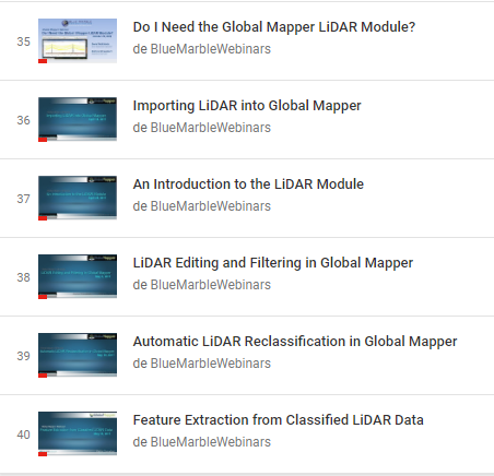 Webinars LIDAR MODULE 2