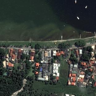 World View 3 PSM, 30 cm, colorido,  de area residencial a beira mar na Ilha de Florianópolis, SC