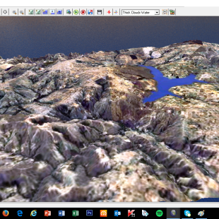 WorldDEM com imagem sobreposta em 3 D