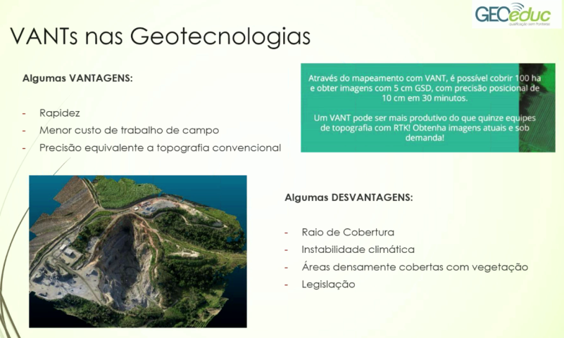 drones na geotecnologia