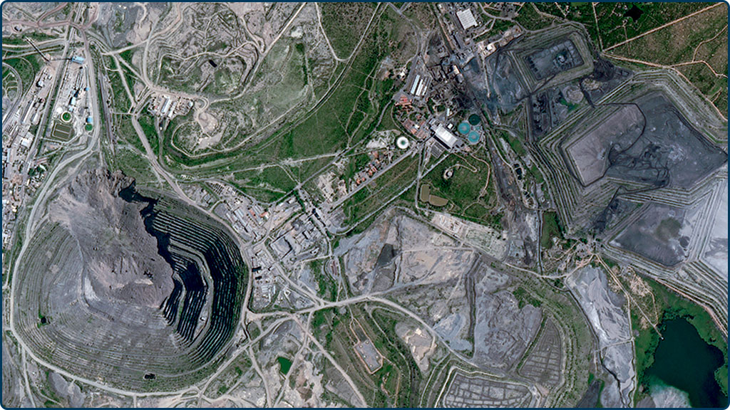 Estudo de Mina - África do Sul - Spot 6 1,5m