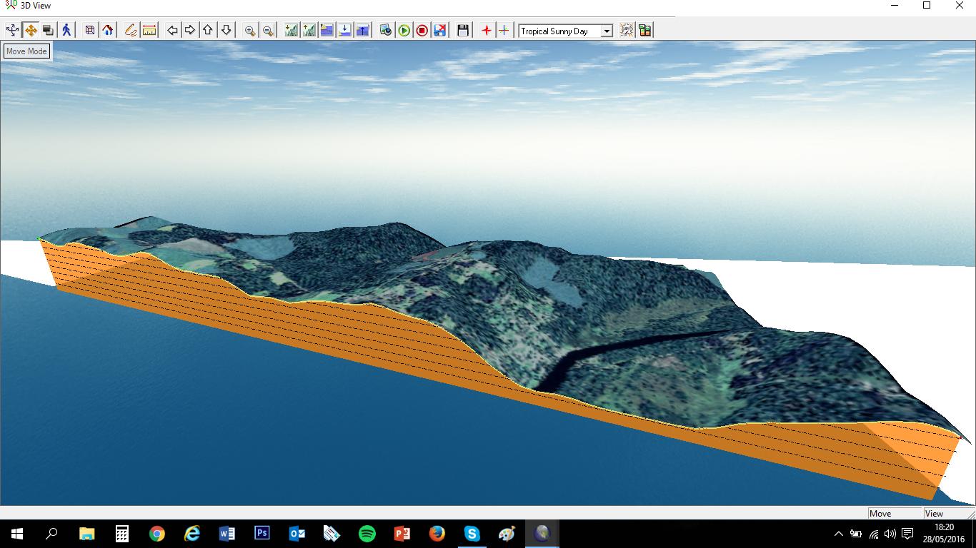 perfil corte 3D