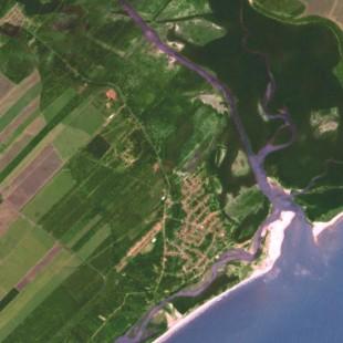 TH-1PSM de 2 m de reolução do litoral de Alagoas